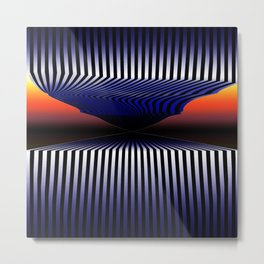 What's At The End of The Tunnel - Surrealistic Optical Illusion Art Metal Print