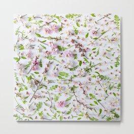 Leaves and flowers pattern (26) Metal Print