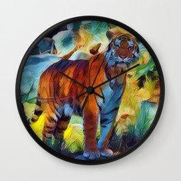 Ivan the Rare Azur Tiger Wall Clock