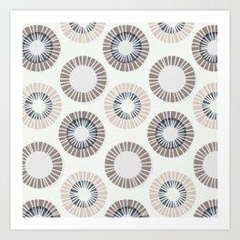 Circles 1 - Warm Grey Art Print