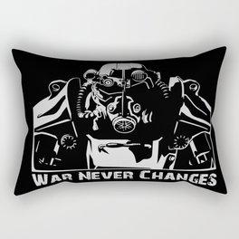 Fallout 3 War Never Changes Rectangular Pillow