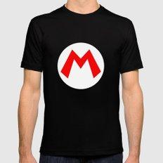 Nintendo Mario Mens Fitted Tee LARGE Black