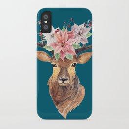 Winter Deer IV iPhone Case