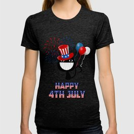 Happy 4th of July Cat - Independence Day T-shirt