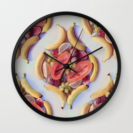 Fruit Salad - a tropical pattern  Wall Clock