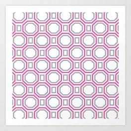 Pink Harmony in Symmetry Art Print