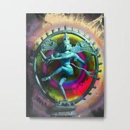Shiva Dancing Metal Print