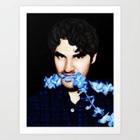 darren criss Art Prints featuring Darren Criss by weepingwillow