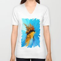 butterfly V-neck T-shirts featuring Butterfly by Paul Kimble