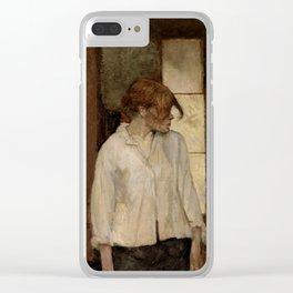 """Henri de Toulouse-Lautrec """"At Montrouge ( Rosa la Rouge)"""" Clear iPhone Case"""