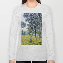 """Claude Monet """"Sunlight Effect under the Poplars"""", 1887 Long Sleeve T-shirt"""