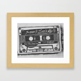 Summer '15 Zombie Mixtape Framed Art Print