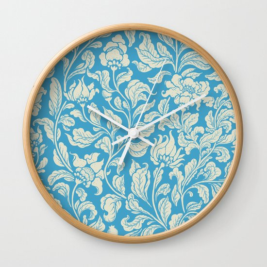 neo ethnic cerulean Wall Clock