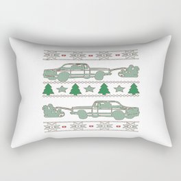 Trucker Christmas Rectangular Pillow