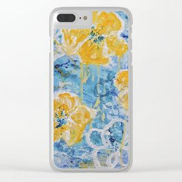 Hello Summer - Yellow Flower Painting Clear iPhone Case