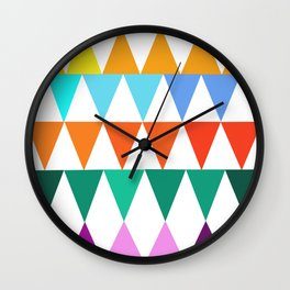 Triangles of Color Wall Clock