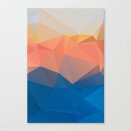Lima / Poster, scandinavian, art, art print, geometric, pastel, low poly, Christmas, drawings, paint Canvas Print