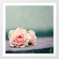 roses Art Prints featuring roses by Claudia Drossert