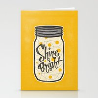 fireflies Stationery Cards featuring Fireflies by Landon Sheely