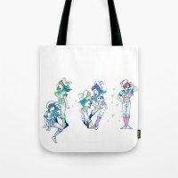 iwatobi Tote Bags featuring Missed the Boat by Alyssa Tye