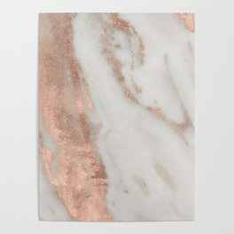 Marble Rose Gold Shimmery Marble Poster