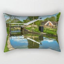 Aubreys Lift Bridge  At Thrupp Rectangular Pillow
