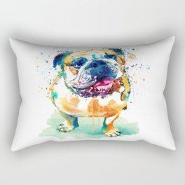 Watercolor Bulldog Rectangular Pillow