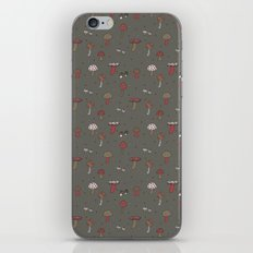 Mushrooms Gray iPhone Skin