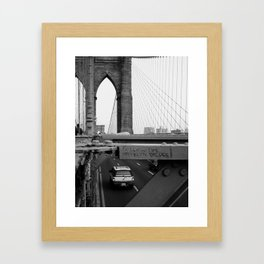 Follow the Bridge Framed Art Print