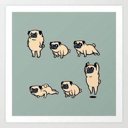 Pug Burpees Art Print
