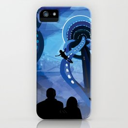 NASA Retro Space Travel Poster #4 - Europa iPhone Case