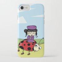 ladybug iPhone & iPod Cases featuring Ladybug by flydesign