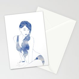 Leto Blue Stationery Cards
