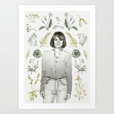 I'm in bloom Art Print