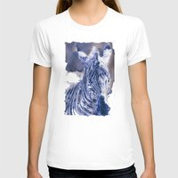 oil T-shirts featuring Zebra Oil by Heidi Fairwood