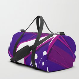 Pure White Diver in the Purple Sky Abstract Art Duffle Bag