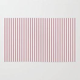 Dark Red Pear Mattress Ticking Narrow Striped Pattern - Fall Fashion 2018 Rug