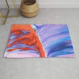 paint liquid stains macro mixing abstraction Rug