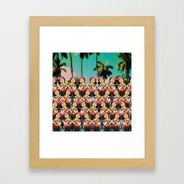 Hula baby girl Framed Art Print