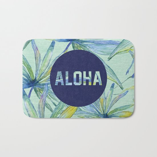 Aloha - blue version Bath Mat