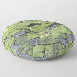 Lily pad sunshine Floor Pillow