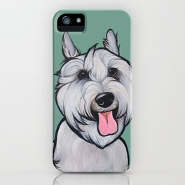 Levi the Miniature Schnauzer iPhone Case