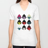 gorillaz V-neck T-shirts featuring Gorillaz by DexDexign
