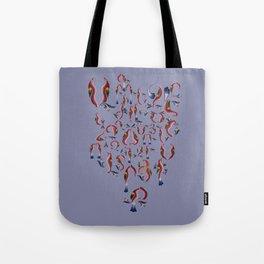 Armenian Alphabet Tote Bag
