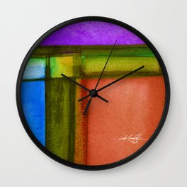 Color Block 7 by Kathy Morton Stanion Wall Clock