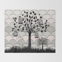 Paper landscape B&W Throw Blanket