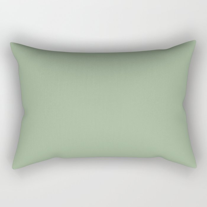 Solid Color Sage Green Rectangular Pillow By Shabbyhappydesigns