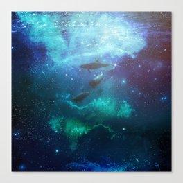 Mystic dolphins Canvas Print
