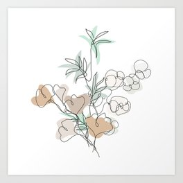 Bamboo, Ginkgo and Cotton Art Print