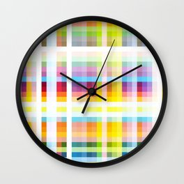 Myling - Colorful Decorative Abstract Art Stripes Pattern Wall Clock